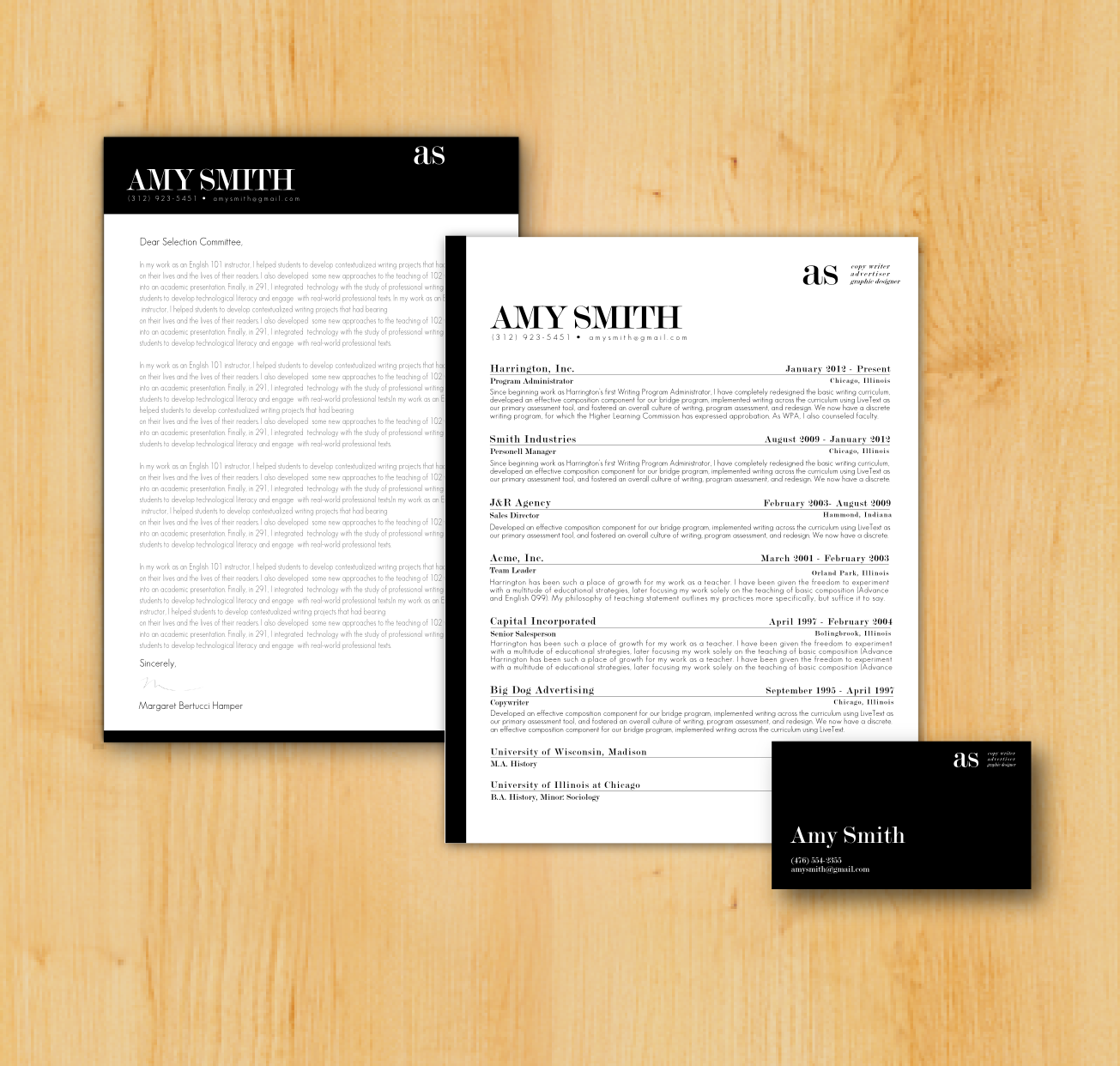 Writing A Cover Letter Design: Original Resume And Cover Letter
