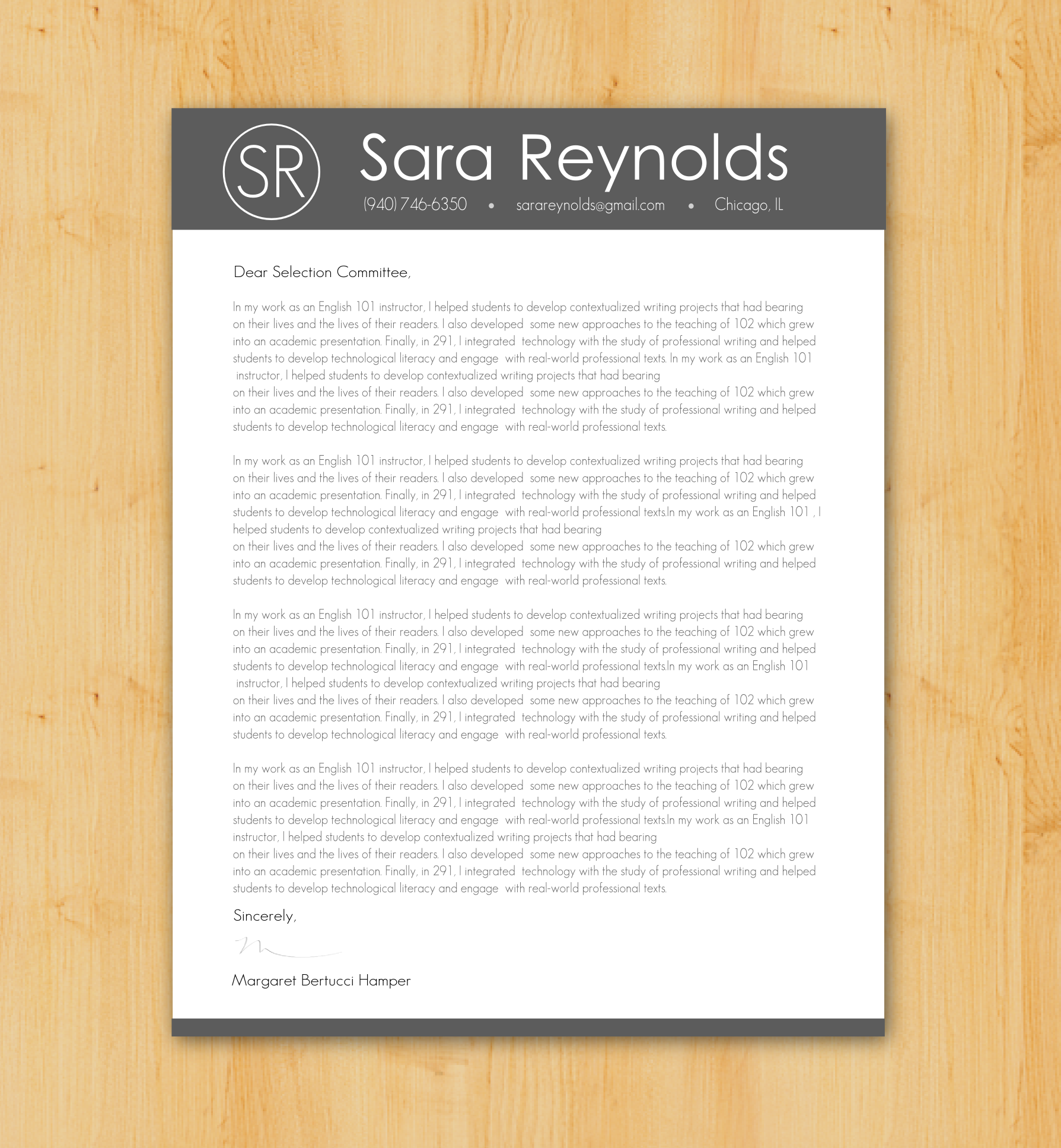 Writing A Cover Letter Design: Custom Cover Letter Writing & Design